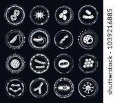 bacteria vector icons | Shutterstock .eps vector #1039216885