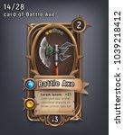 card of fantasy battle axe... | Shutterstock .eps vector #1039218412