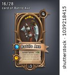 card of fantasy battle axe... | Shutterstock .eps vector #1039218415