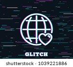 glitch effect. international... | Shutterstock .eps vector #1039221886
