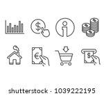 set of online market  finance... | Shutterstock .eps vector #1039222195