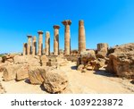 ruined temple of heracles... | Shutterstock . vector #1039223872