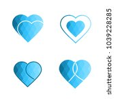 geomatric hearts love vector...   Shutterstock .eps vector #1039228285