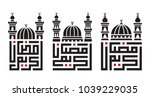 arabic text   generous ramadan... | Shutterstock .eps vector #1039229035