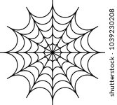 spider web icon design vector... | Shutterstock .eps vector #1039230208