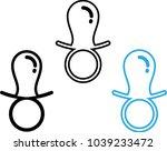 baby pacifier icon vector art... | Shutterstock .eps vector #1039233472