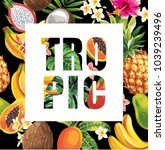 tropical hawaiian design.... | Shutterstock .eps vector #1039239496