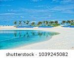 tropical beach in great stirrup ...   Shutterstock . vector #1039245082