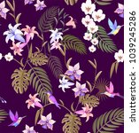 tropical summer pattern... | Shutterstock .eps vector #1039245286