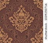 vector damask seamless pattern... | Shutterstock .eps vector #1039250716