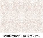 seamless white lace background... | Shutterstock .eps vector #1039252498