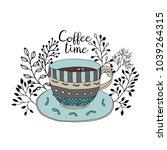Coffee Time. Cute Coffee Cup...