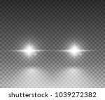 cars light effect. white glow... | Shutterstock .eps vector #1039272382