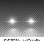 cars light effect. white glow... | Shutterstock .eps vector #1039272382