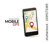 mobile gps navigation concept....   Shutterstock .eps vector #1039272385