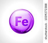 mineral ferrum shining pill...   Shutterstock .eps vector #1039272388