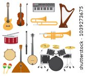 musical instruments vector... | Shutterstock .eps vector #1039273675
