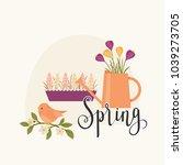 spring concept vector... | Shutterstock .eps vector #1039273705