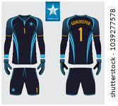 goalkeeper jersey or soccer kit ... | Shutterstock .eps vector #1039277578