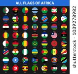 set of flags of all african... | Shutterstock .eps vector #1039278982
