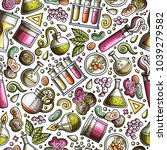 cartoon cute hand drawn science ... | Shutterstock .eps vector #1039279582