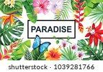 tropical hawaiian design with... | Shutterstock .eps vector #1039281766