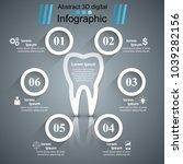business infographics origami... | Shutterstock .eps vector #1039282156