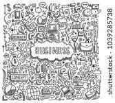 illustration of business... | Shutterstock .eps vector #1039285738