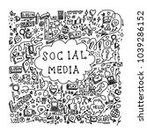 illustration of social media... | Shutterstock .eps vector #1039286152