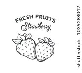 hand drawn strawberry icon.... | Shutterstock .eps vector #1039288042