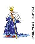 sleepy king  character... | Shutterstock .eps vector #10392937
