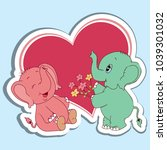 illustration of two cute...   Shutterstock .eps vector #1039301032