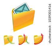 vector folder with document | Shutterstock .eps vector #1039301416
