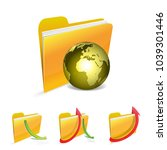 globe with folder | Shutterstock .eps vector #1039301446
