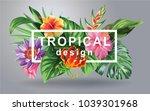 tropical hawaiian design with... | Shutterstock .eps vector #1039301968
