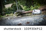 down power lines and electric... | Shutterstock . vector #1039306912