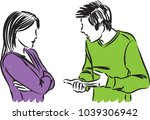 couple man and woman arguing... | Shutterstock .eps vector #1039306942