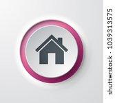 home web icon push button | Shutterstock .eps vector #1039313575