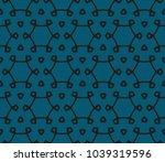 modern geometric ornament.... | Shutterstock .eps vector #1039319596