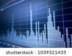 stock market graph analysis for ... | Shutterstock . vector #1039321435