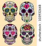 day of the dead vector... | Shutterstock .eps vector #103932668