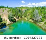 blue wells panoramic view... | Shutterstock . vector #1039327378