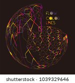 moving colorful lines of... | Shutterstock .eps vector #1039329646
