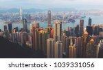 victoria peak hong kong | Shutterstock . vector #1039331056