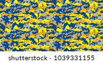 camouflage background.seamless... | Shutterstock .eps vector #1039331155