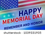 united states memoryal day | Shutterstock . vector #1039331935