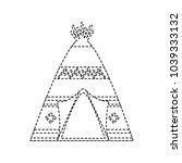teepee home native american... | Shutterstock .eps vector #1039333132