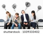 disappointed group of people. | Shutterstock . vector #1039333402