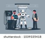 presentation of modern robot....   Shutterstock .eps vector #1039335418
