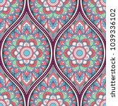seamless pattern with ethnic... | Shutterstock . vector #1039336102